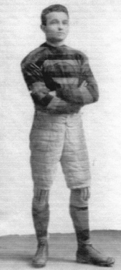 Photo of Eddie McKay as a member of the University of Western Ontario rugby team.