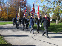 Sunday November 3, 2013.  Legion Color Party on parade to the Cenotaph at Dickson's Corners.